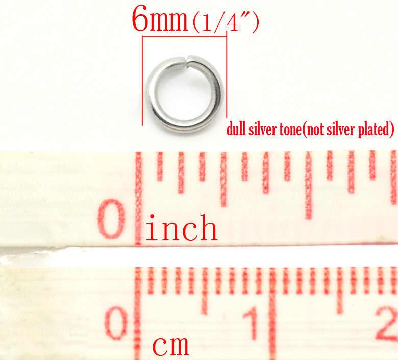 """Doreen b eads สแตนเลสสตีลเงินเปิดแหวนกระโดด 6 มิลลิเมตร (1/4 """"), แคดเมียมฟรีขายต่อแพ็คเก็ต 65 ใหม่"""