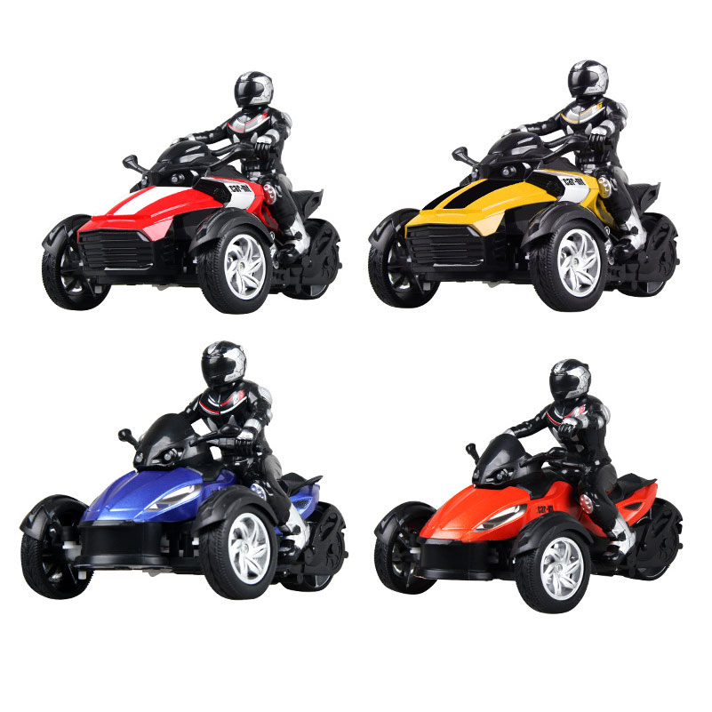 RC Motorcycle 3 Wheels Drift RC Motorbike Model Remote Control Off-road Motor Toys for Children Game Gifts
