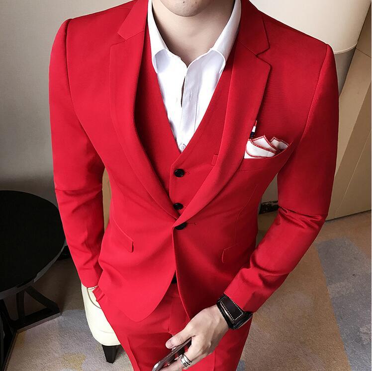 2018 Лето Королевский синий мужские, Цвет мужские классические костюмы Красный костюм для выпускного черный, белый цвет Abiti Slim Fit S 3xl Vestito для