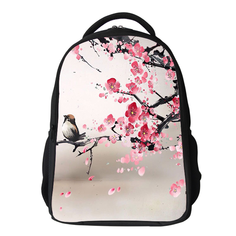 Girls cherry blossom Backpack Kids Oxford Personized School Bag Japanese Lanscape Painting Rucksack Casual Daypack for teenagers (5)