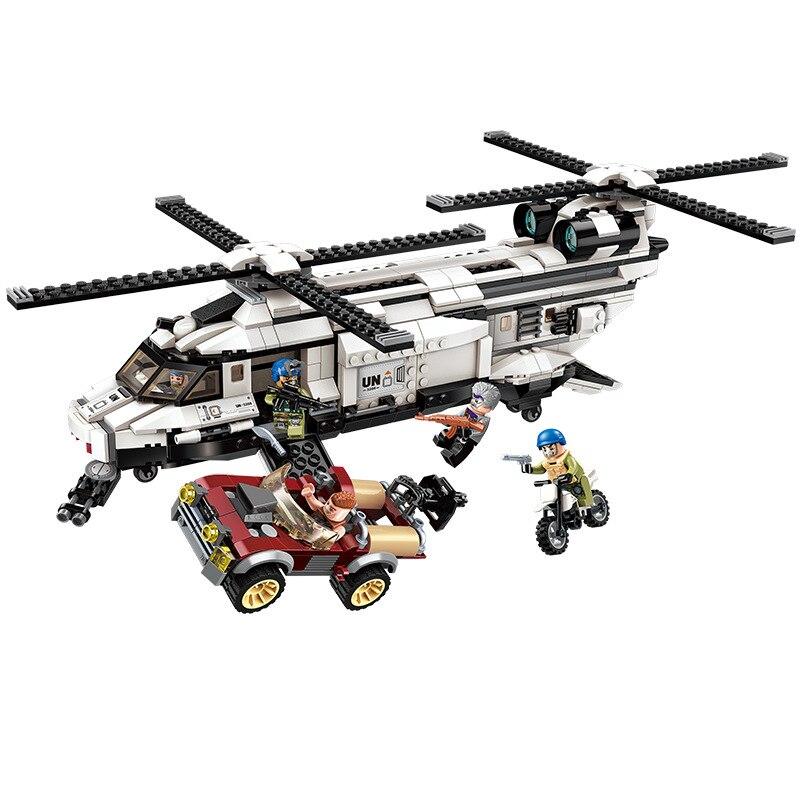 648pcs Children s educational building blocks toy Compatible city Military gunship model DIY figures Bricks boy