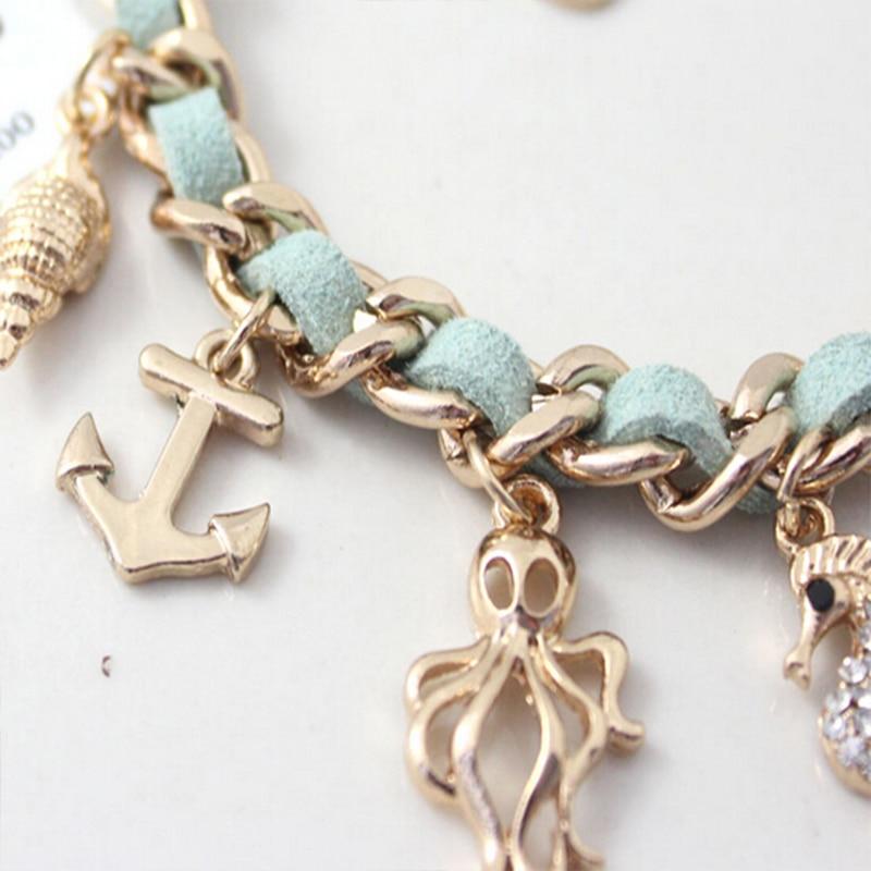Mode New Ocean Serie Hippocampal Muschelschalen Seestern Gold Farbe - Modeschmuck - Foto 3