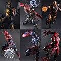 Экшн-фигурки Kai Iron Man  Человек-паук  Venom  Captain America  deadбассейн  PA Kai  27 см  ПВХ  игрушки  подарок для детей