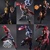 Play Arts Kai Iron Man Spiderman Venom Captain America Deadpool PA Kai 27cm PVC Action Figure