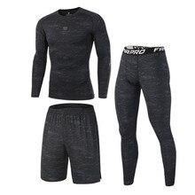 Высококачественные Компрессионные Мужские спортивные костюмы быстросохнущие комплекты для бега спортивный костюм для бега тренировки Спорт Фитнес спортивные костюмы для бега одежда для бега компрессионная одежда