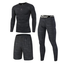 High Quality Compression Men's Sport Suits Quick Dry Running sets Clothes Sports Joggers Training Gym Fitness Tracksuits Running(China)