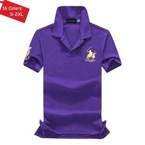 Image 5 - Good Quality 2020 Summer Brand Mens Short Sleeve Horse Polos Shirts Casual 100% Cotton Lapel Polos Homme Fashion Male Slim Tops