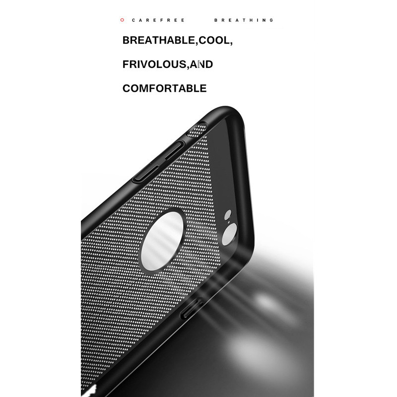 Heat dissipation phone Case For iPhone X, 6 6s plus, 8, 8 plus, 7 Plus, Cover Hard Back PC Protect Shell 4