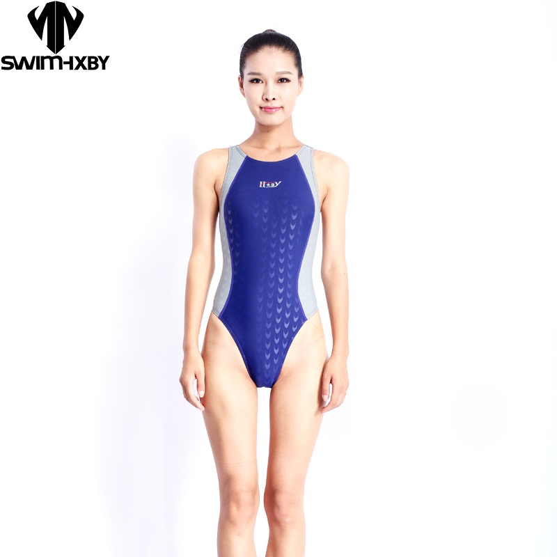 Free Shipping New arrival professional sports swimming women competition swimsuits one piece swimsuit for training(China)