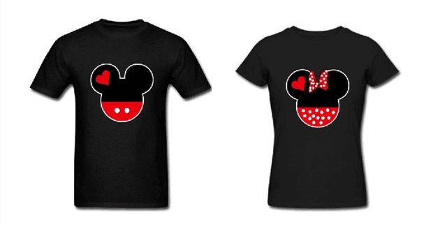 974e36c4 True Love Minnie Mickey Matching Cute Designs Newly Married Couple T Shirt  Kawaii Cartoon Casual Print Tops Tee Shirts