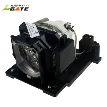 HAPPYBATE  DT01091 compatible projector lamp for ED-D10N ED-D11N ED-AW100N ED-AW110N CP-D10 CP-DW10N CP-AW100N HCP-Q3W HCP-Q3 dt00757 projector lamp for hitachi cp hx3280 cp x251 cp x256 ed x10 ed x1092 ed x12 ed x15 ed x20 ed x22 hcp 50x mp j1ef 3m x71c