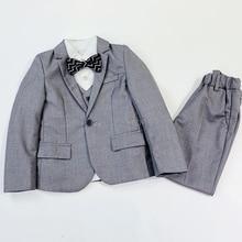 Suits Costume Children Clothing-Sets Blazer Vest Boys Dresses Birthday-Gift Wedding Kids