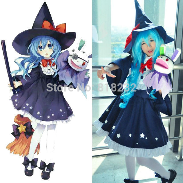 DATE A LIVE Yoshino Halloween Evil Female Outfit Uniform Dress Cosplay Costumes On Aliexpress ...