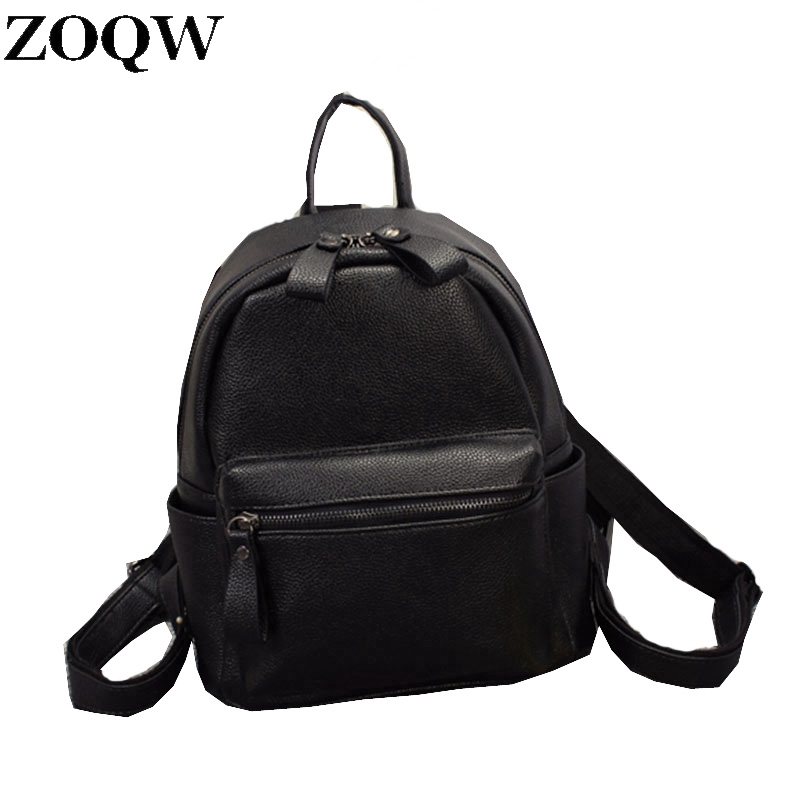 Korean Style New Arrival Hot Selling School Bags For Teenagers Casual Brief Travelling Women's Leather Backpack Gq1173