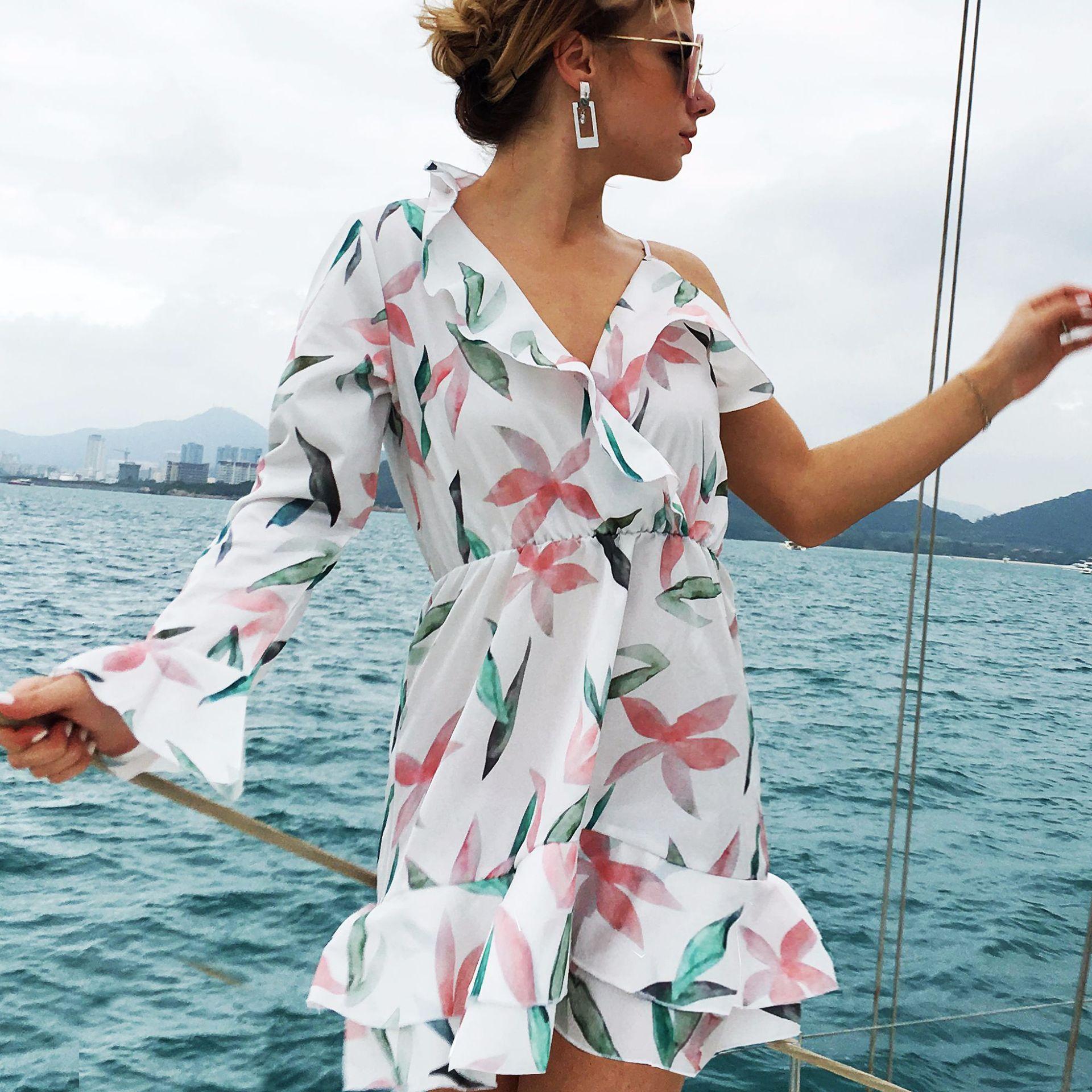 cfc4147596 Hot 2018 Women Sexy Chiffon Bikini Cover Up Beach Swimwear Dress Scarf  Pareo Sarong Wrap Ladies Summer Dress