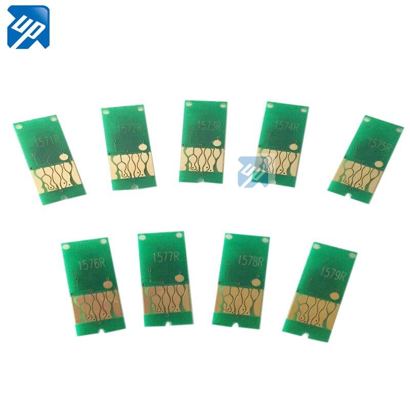 9 StÜcke Für Epson R3000 Nachfüllbare Tintenpatrone Ciss Cis Selbstzurückstellenspan 157 1571 1572 1573 Arc Chip Tropf-Trocken