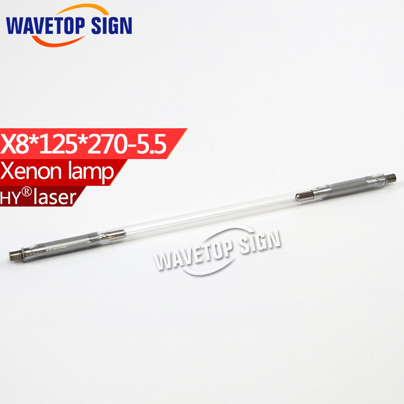 Laser xenon lamp x8*125*270-5.5mm   use for laser welding machine laser mark machine  xe lamp laser head kss 151a