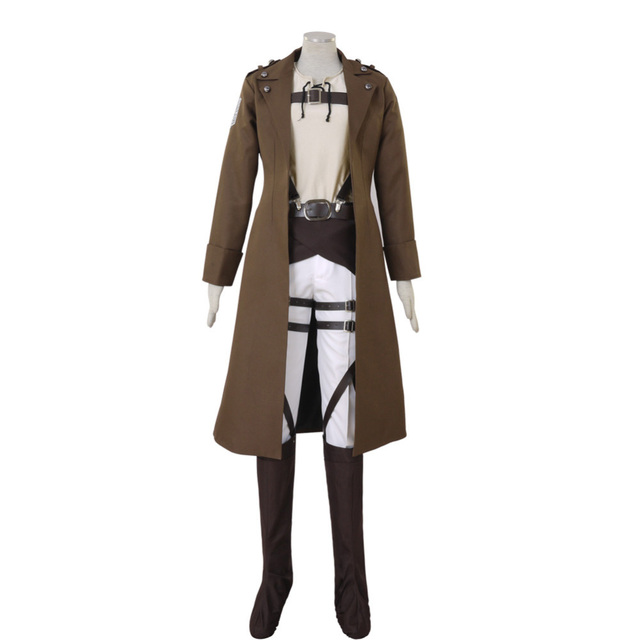 Attack on Titan Shingeki no Kyojin Eren Jaeger Cosplay Costume Long Coat Custom Made