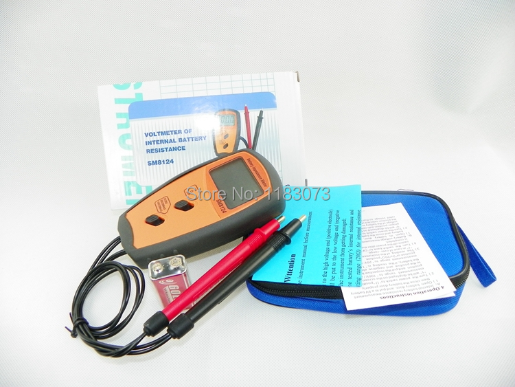 Battery Resistance Voltmeter Internal Impedance Meter LCD Rechargeable Battery Impedance internal resistance Tester SM8124A