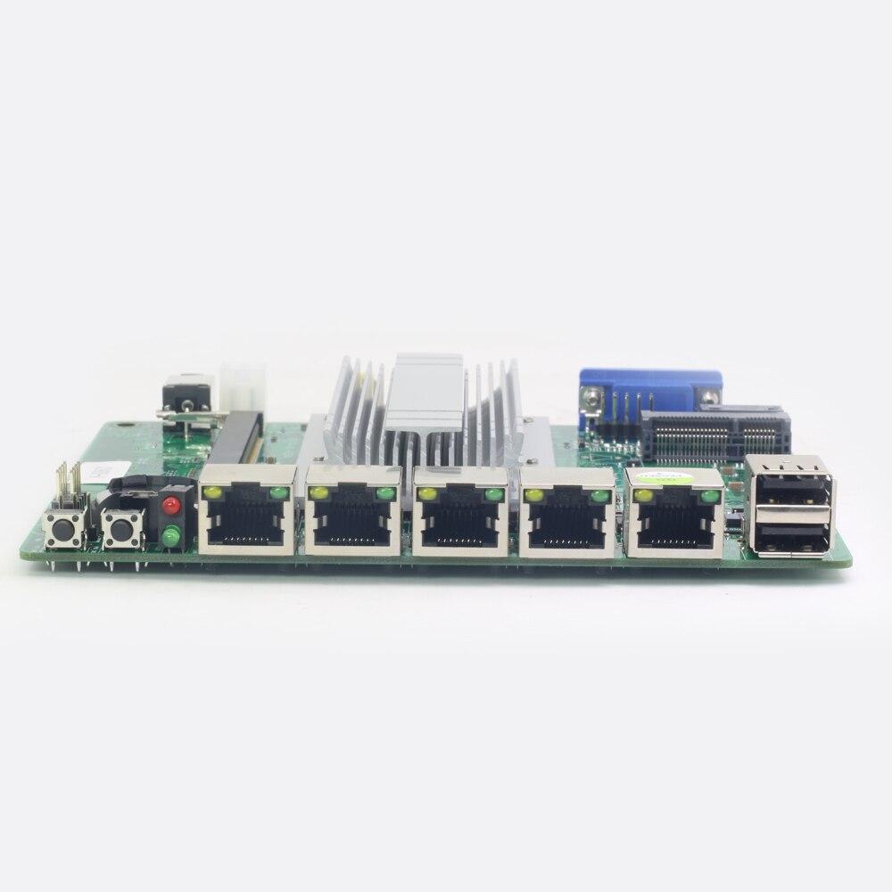 Mini carte mère ITX Intel Celeron J1800 avec 4x1000 Mbps Intel Gigabit Ethernet USB VGA RJ45 pare-feu routeur appareil Pfsense - 3