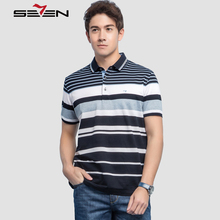 Seven7 Summer Men Polo Shirts Thin Striped Contrast Color Block Performance Polo Shirts Clearance Casual Men Tops Tees 112T50130