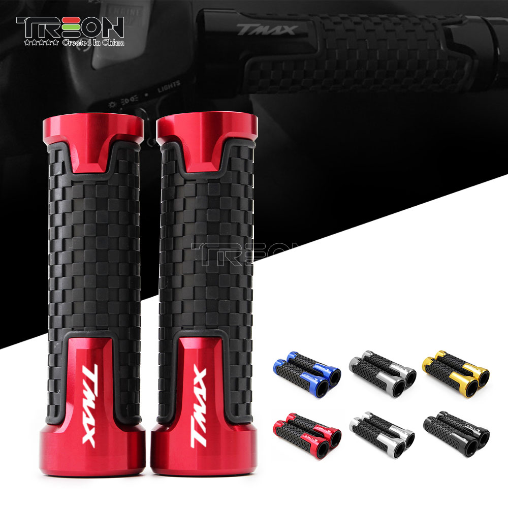 CNC PVC <font><b>Motorcycle</b></font> Handle Bar <font><b>Grips</b></font> For <font><b>Yamaha</b></font> TMAX T-MAX 530 500 TMAX530 SX DX 2014-2017 2.2/2.4cm <font><b>Motorcycle</b></font> Accessories image