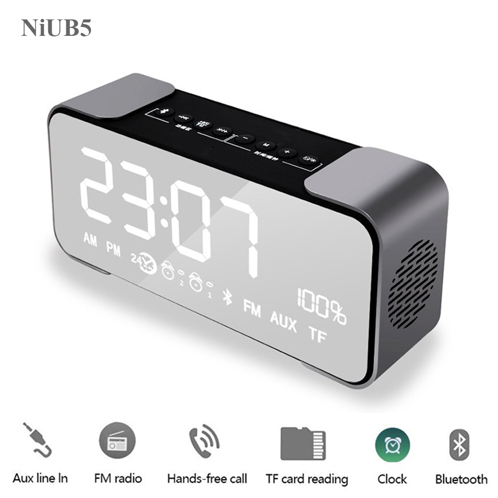 NiUB5 H35 Bluetooth Wireless Speaker Stereo Support Mic FM Radio Micro TF SD Card/USB Super Bass for xiaomi iPhone Android Phone
