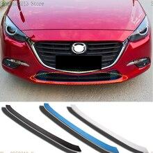 Авто аксессуары для Mazda 3 Axela из нержавеющей стали передний бампер Нижняя решетка уплотнительная прокладка полосы 1 шт