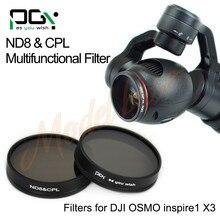 PGY ND8 & 2em1 Multi-função AGC Lente CPL Filtro Para Câmera cardan DJI inspire1 OSMO X3 Quadcopter zangão peças acessórios