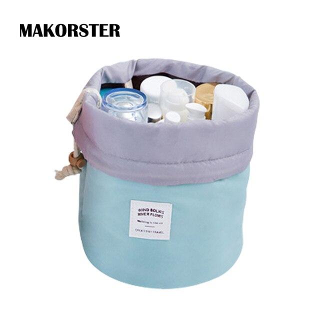 MAKORSTER Women Makeup Bag Fashion Drawstring Cosmetic Bags Case Make Up Travel Organizer Toiletry Bag YY076