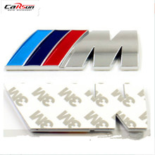 """8.3*3.3CM Motorcycle New 3D Modified Metal """"M"""" Car Stickers For BMW/3/5/M/M3/M5  Car Styling Accessories Funny Car Stickers R422"""