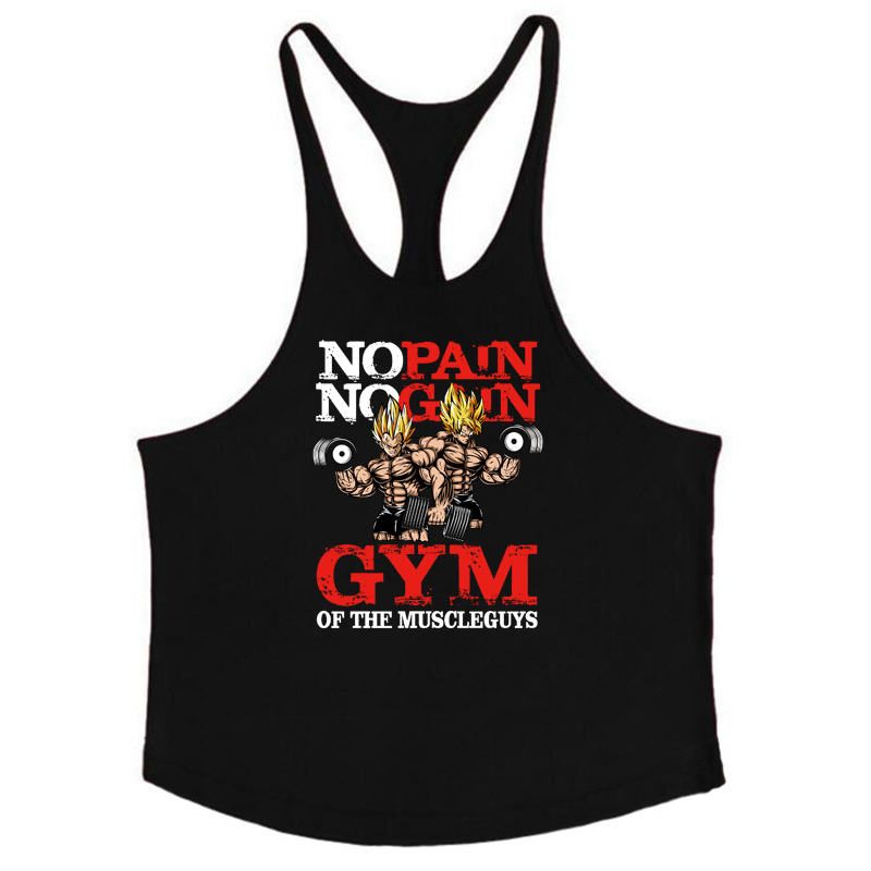 Dragon ball   tank     top   men Fitness Vest Gyms Clothing Singlet Y Back Stringer Canotta Bodybuilding Sleeveless shirt Muscle Tanktop