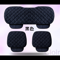 Purple Coffee multiple color Vehicle Seat Cushion Winter Furry Backless 3 pieces/Set of Anti skid Seat Cushions