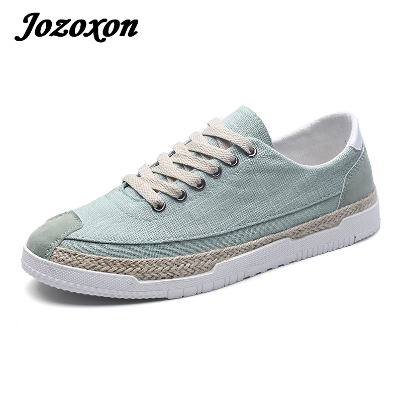Jozoxon 2018 New Arrival Spring Summer Comfortable Casual Shoes Mens Canvas Shoes for Men Luxury Brand Fashion Flat Loafers Shoe