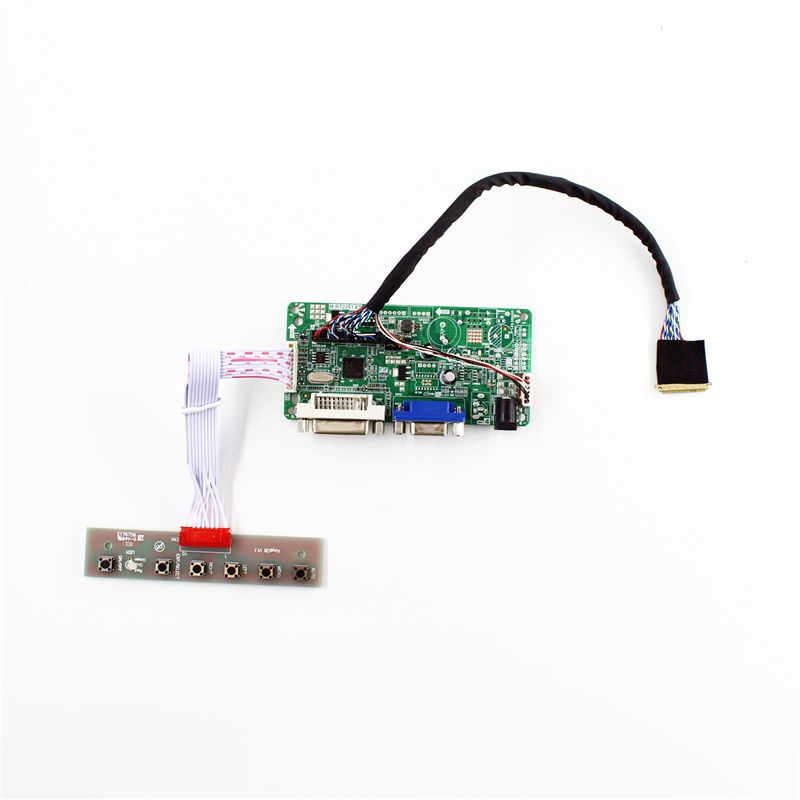 RT2281 LCD controller board with DVI VGA support for 17.3 inch 1920x1080 lcd panel <font><b>B173HW02</b></font> <font><b>V1</b></font> N173HGE-L21 LP173WF1-TLA easy diy image