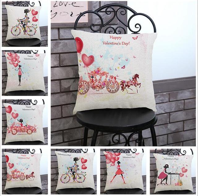 Linen Cotton Department Of Love Balloon Cushion Cover Home Decor Decorative Pillow