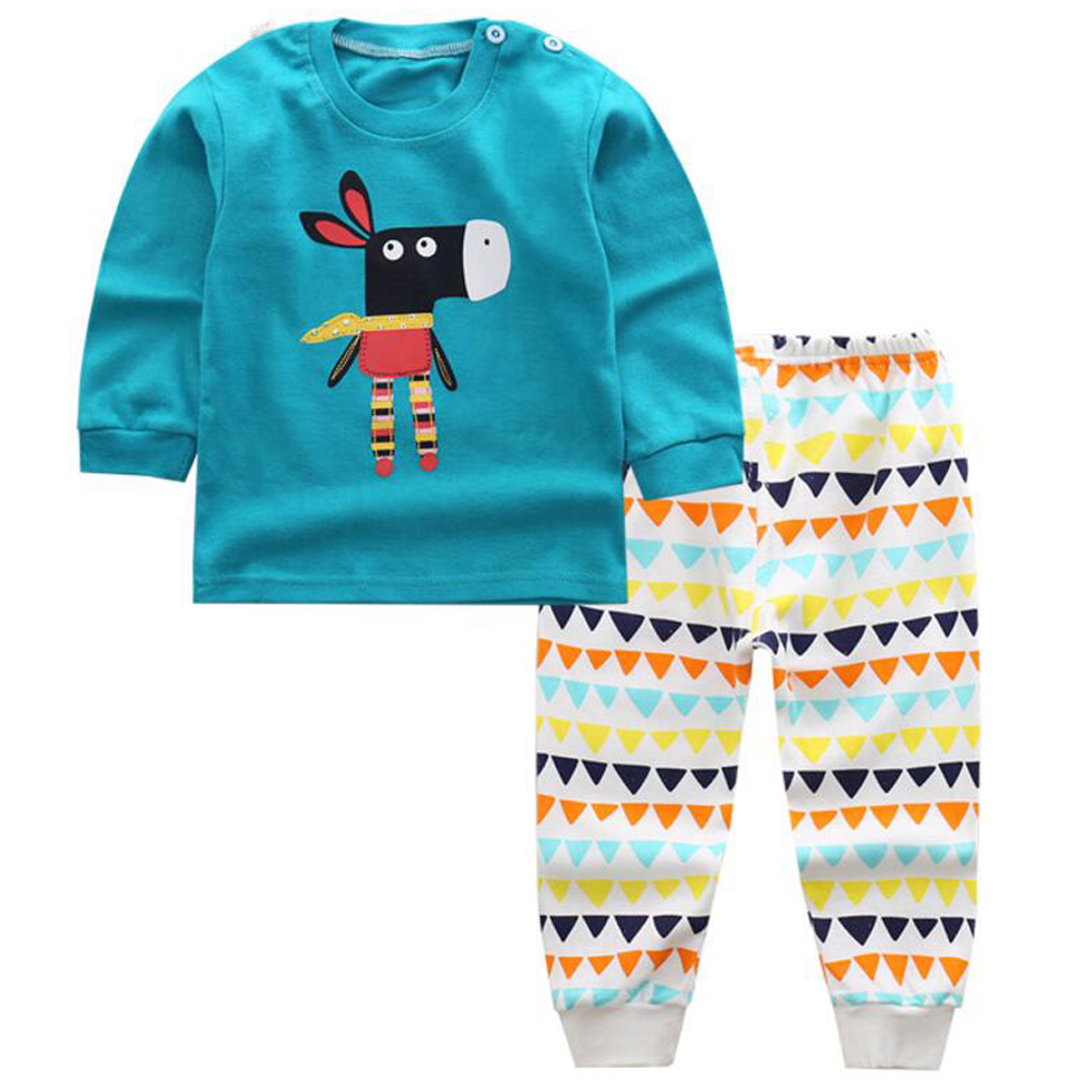 Infant New Born Baby Clothes Pajamas Kids Boy Children Clothing Baby Tracksuit Set Toddle Sweatshirt Boy Sleepwear Sleep Wear children tracksuit clothing boys outwear set clothes newborns baby pj children s pajamas for babies kids suit sleepwear 2 3 year