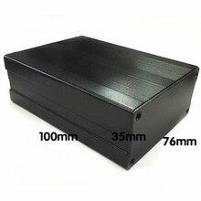 Черный прессованный алюминиевый корпус PCB инструмент Электронный проект коробка чехол 100x76x35 мм алюминиевый чехол для инструмента
