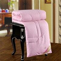 Шелковое Одеяло китайское шелковое одеяло хлопковое покрывало розовое одеяло наполнение стеганное одеяло с изображением тутовицы шелково...