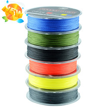 Wholesale Monofilament Braided Fishing Line 100m Floating Multicolor 8-60LB High Quality PE 4 Strands China 2016 Free Shipping