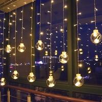 3m LED Curtain Light String Garland Window Decorative 12 Balls for Holiday Christmas Xmas Outdoor Wedding Party 220V EU Plug JQ