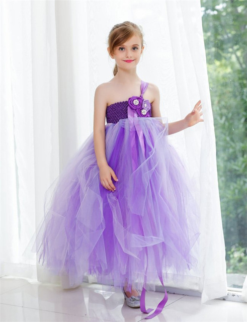 Online Shop Light purple gown christening girl Kids clothing Baby ...