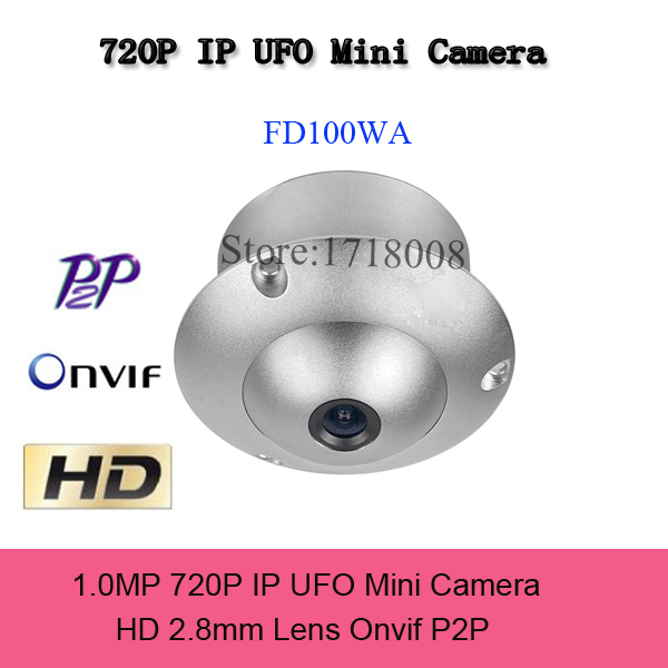 HD720P 2.8MM ONVIF UFO Type Mini IP Camera Securiy HD Network CCTV Camera Metal Case indoor Network IP Camera Onvif P2P Icloud