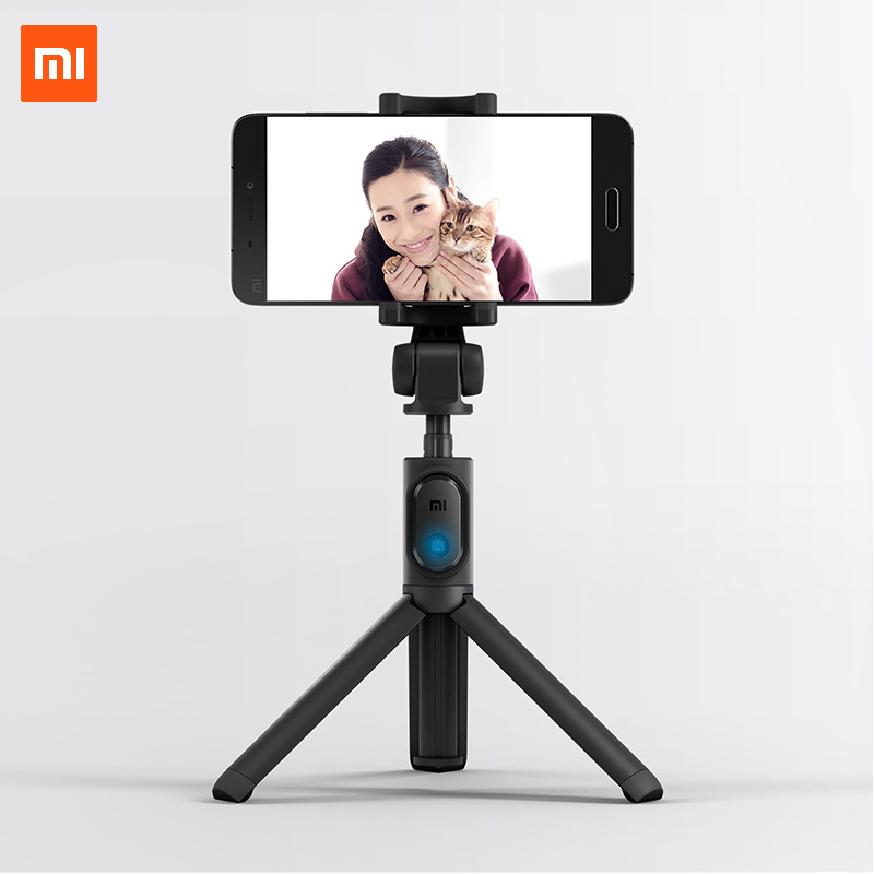 Xiaomi Pliable Trépied Selfie Bâton 155g Étendre longueur 400mm Bluetooth télécommande D'obturateur pour retransmission sur le web en direct vidéo faire photos