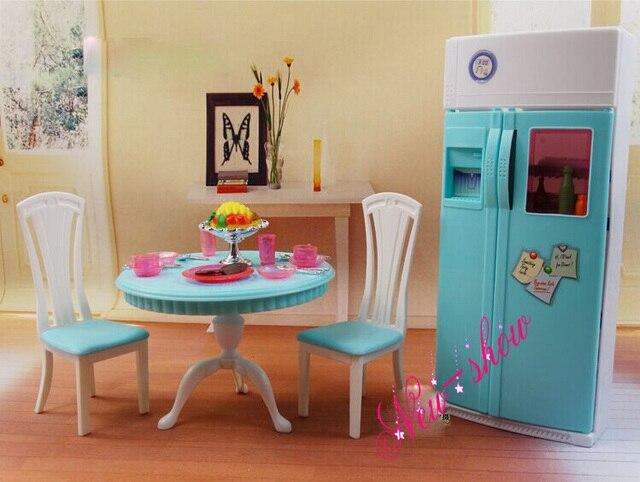 Abendessen Tee Tisch Stuhl Kühlschrank Gesetzt/puppenhaus Esszimmer ...