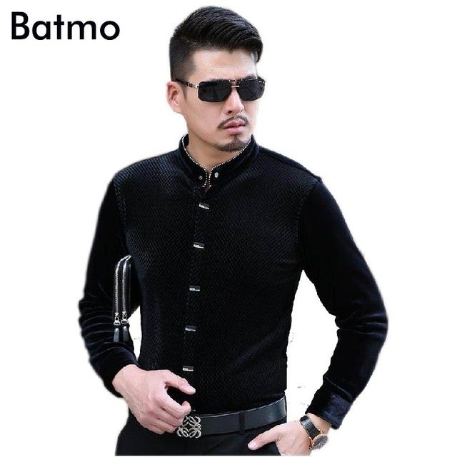 2017 recién llegado de Soporte callor negro ocasional hombres de la Cachemira camisa, camisa de la manera de los hombres, 3 colores más el tamaño m, l, xl, xxl, 3xl, 4xl