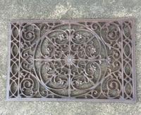 Decorative Wrought Iron Scroll Flower Door Mat Outdoor Doormat Rectangular Garden Yard Patio Courtyard Metal Craft Free Ship