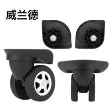 цена на Trolley universal wheel fitting maintenance password suitcase luggage slipper  accessories  360 luggage universal casters wheel