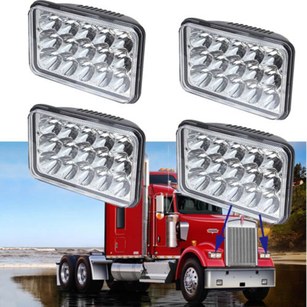 4x 45w led headlights for peterbilt rectangular kenworth t800 t400 rh aliexpress com Kenworth T800 4 Battery Cable Schematic Kenworth T800 Wiring Spare Switch
