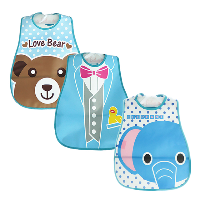 Baby Bibs Waterproof 3 Pieces/lot Lunch Bibs Infant Burp Cloths 2016 Brand Clothing Towel Kids Clothing Accessories 1